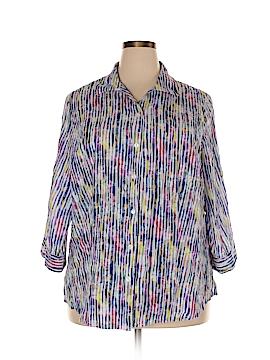 Alia 3/4 Sleeve Button-Down Shirt Size 20 (Plus)