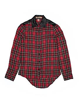Fun & Flirt Long Sleeve Button-Down Shirt Size XS