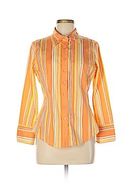 Metrostyle 3/4 Sleeve Button-Down Shirt Size 8