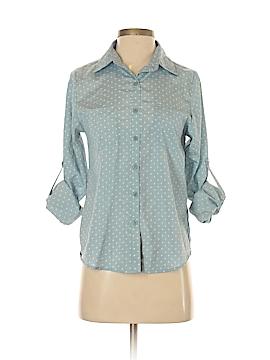 Xhilaration Long Sleeve Button-Down Shirt Size XS