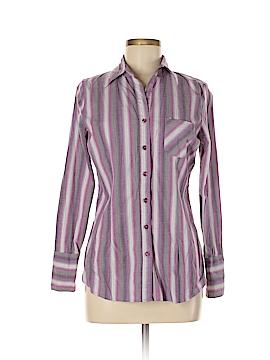 Metrostyle Long Sleeve Button-Down Shirt Size 8