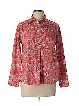 Lands' End Long Sleeve Button-Down Shirt Size 12 (Petite)