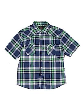 Swiss Cross Short Sleeve Button-Down Shirt Size 18
