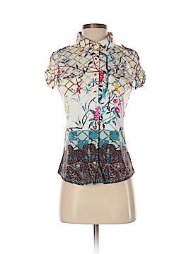 BCBGMAXAZRIA Short Sleeve Blouse Size S (Petite)