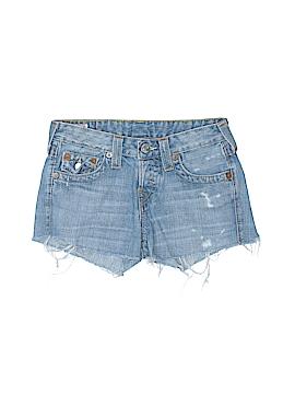 True Religion Denim Shorts 24 Waist