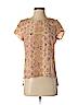 Fynn & Rose Women Short Sleeve Silk Top Size XS