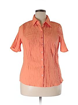 Cj Banks Short Sleeve Blouse Size 1X (Plus)
