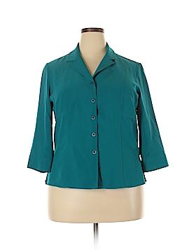 Kathy Che 3/4 Sleeve Blouse Size 18 (Plus)