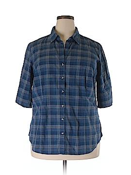 Venezia Short Sleeve Button-Down Shirt Size 18 /20Plus (Plus)