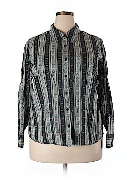 Venezia Long Sleeve Button-Down Shirt Size 18/20 (Plus)