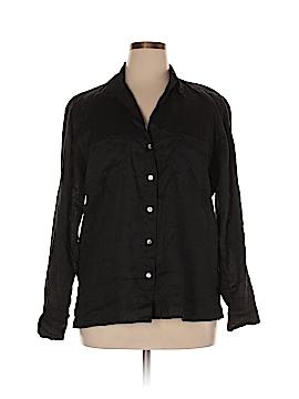 Just Living Long Sleeve Button-Down Shirt Size XL