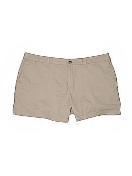 Faded Glory Khaki Shorts Size 18 (Plus)