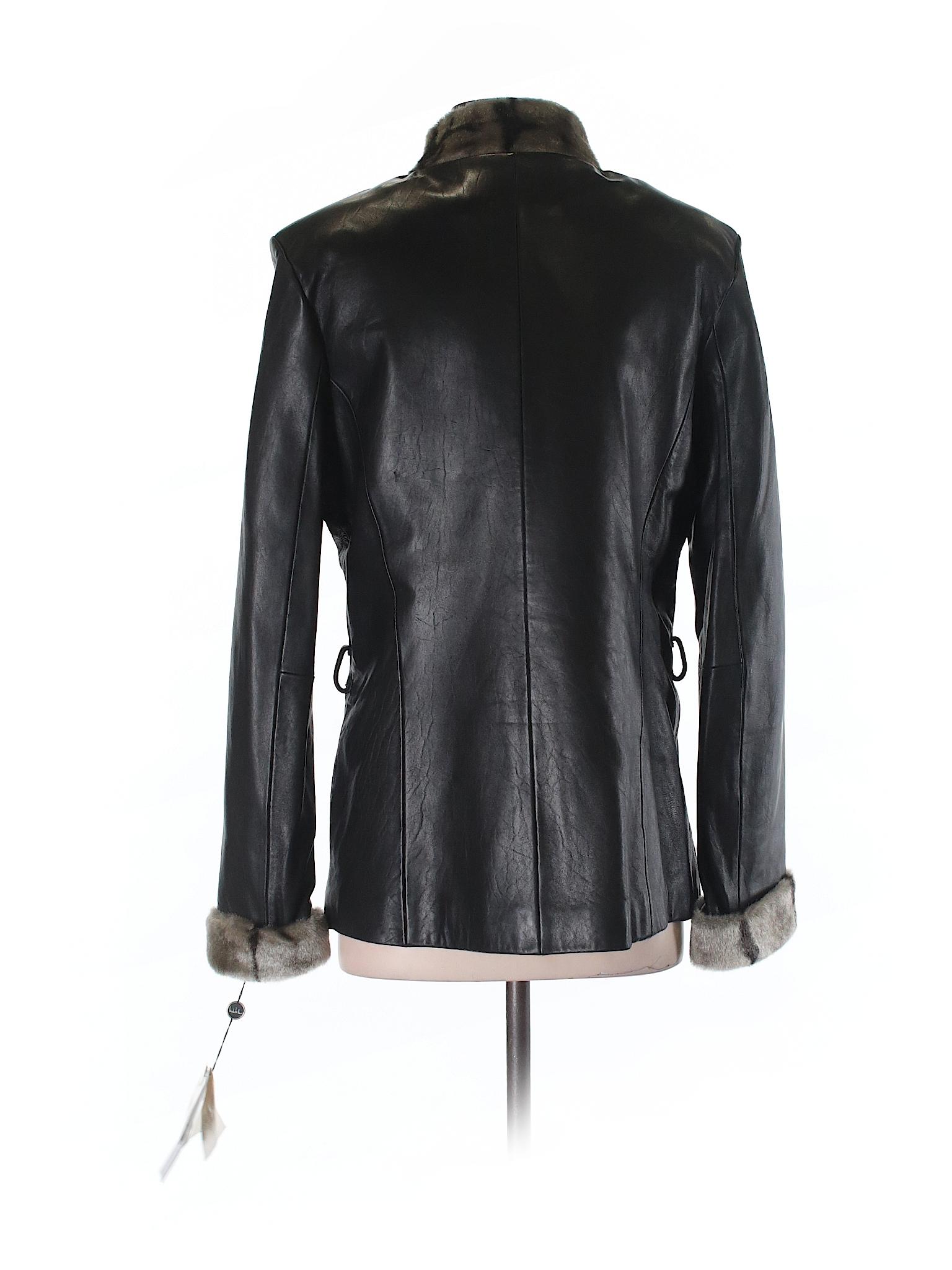 Nicole Miller Jacket Leather winter Boutique RnTP6q7w
