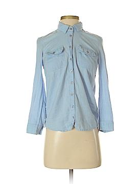 Topshop Long Sleeve Button-Down Shirt Size 0 (Petite)