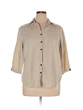 Versailles 3/4 Sleeve Button-Down Shirt Size 1X (Plus)
