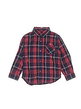 CALVIN KLEIN JEANS Long Sleeve Button-Down Shirt Size 4