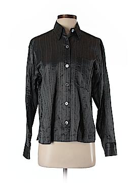 Linda Allard Ellen Tracy Long Sleeve Button-Down Shirt Size 4