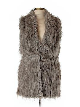 Zara Basic Faux Fur Vest Size L
