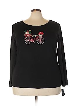 Karen Kane Long Sleeve T-Shirt Size 2X (Plus)