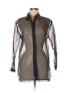 Sunny Leigh Long Sleeve Silk Top Size 8