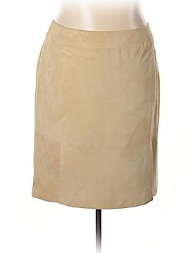 Marina Rinaldi Leather Skirt Size 18 (Plus)