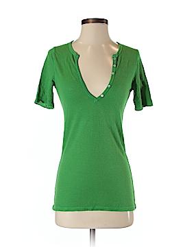 Sparkle Short Sleeve Henley Size S