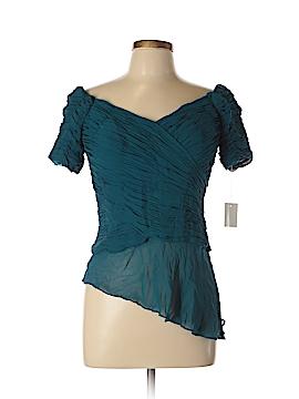 Chetta B Short Sleeve Silk Top Size 10
