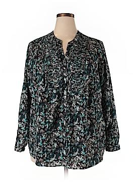 Croft & Barrow Long Sleeve Blouse Size 2X (Plus)