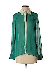 Romeo & Juliet Couture Women Long Sleeve Button-Down Shirt Size S
