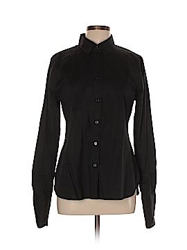 Moda International Long Sleeve Button-Down Shirt Size L