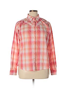 Wrangler Jeans Co Long Sleeve Button-Down Shirt Size L