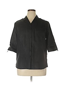 Westbound 3/4 Sleeve Button-Down Shirt Size 16