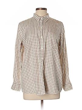 Club Monaco Long Sleeve Silk Top Size L