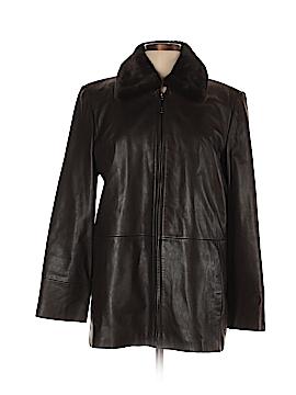 London Fog Leather Jacket Size M