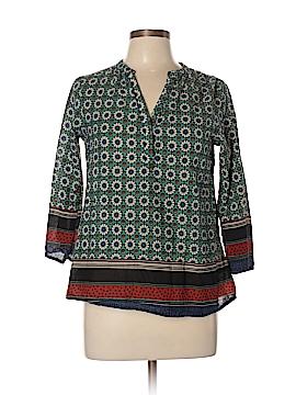 Fun2Fun 3/4 Sleeve Button-Down Shirt Size M