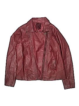 X-Two Women Faux Leather Jacket Size 1