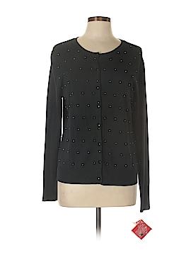 O Oscar De La Renta Silk Cardigan Size XL