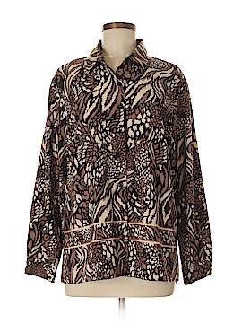 BonWorth Long Sleeve Button-Down Shirt Size M (Petite)
