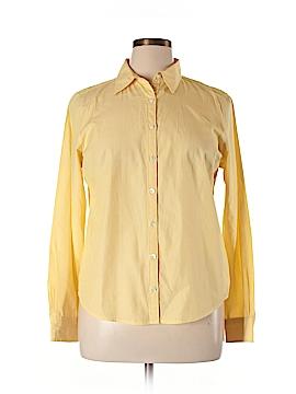 Lands' End Canvas Long Sleeve Button-Down Shirt Size 14