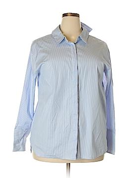 Halogen Long Sleeve Button-Down Shirt Size 1X (Plus)