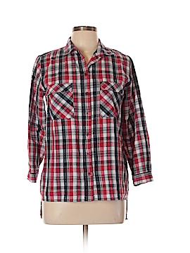 YMI 3/4 Sleeve Button-Down Shirt Size L