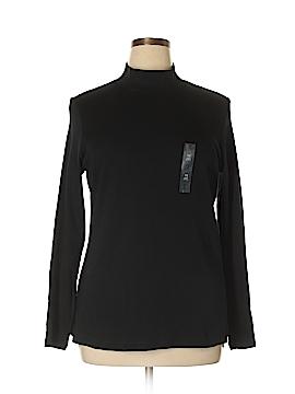 Karen Scott Long Sleeve T-Shirt Size 1X (Plus)