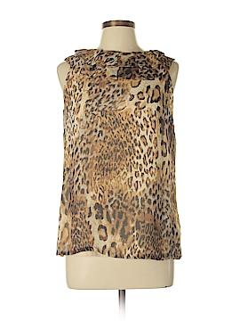 Sara Campbell Sleeveless Silk Top Size 10