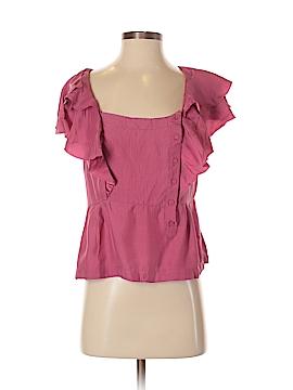Leifsdottir Short Sleeve Silk Top Size 6