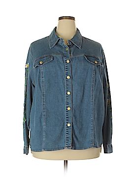 BOB MASSE STUDIOS Long Sleeve Button-Down Shirt Size 2X (Plus)