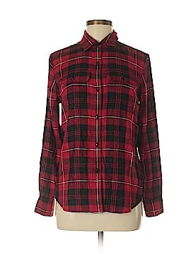 Chaps Long Sleeve Blouse Size M (Petite)