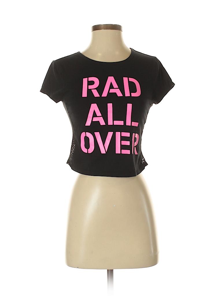 572034ace786b Bethany Mota for Aeropostale Graphic Black Short Sleeve T-Shirt Size ...
