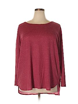 Bobeau Long Sleeve T-Shirt Size 1X (Plus)