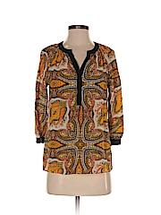 Broadway & Broome Women 3/4 Sleeve Silk Top Size S