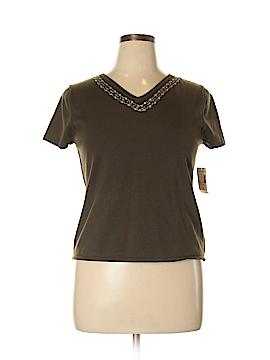 DressBarn Short Sleeve Silk Top Size 16